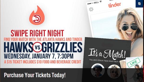 Atlanta Hawks and Tinder Poster
