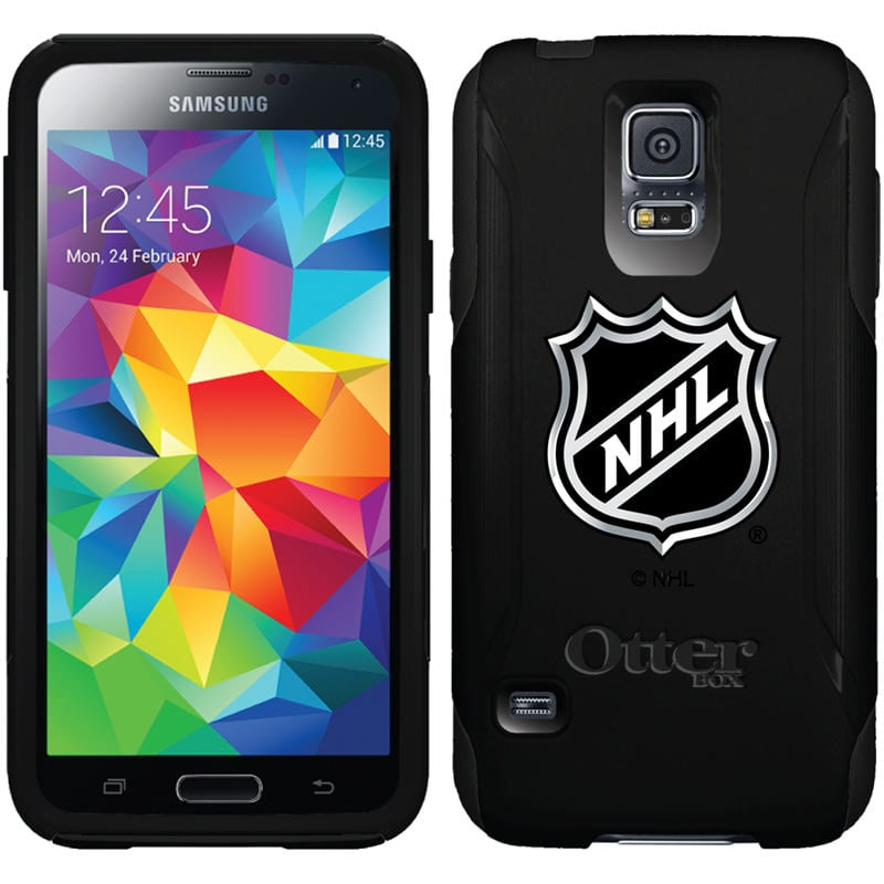 Mobile phone with NHL logo