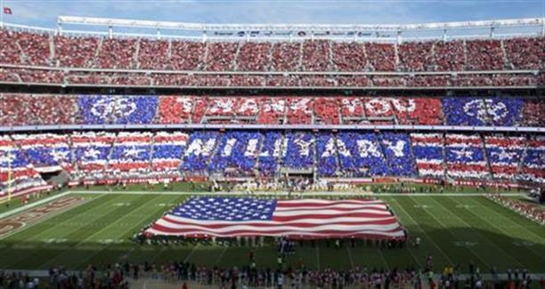 Military appreciate day NFL