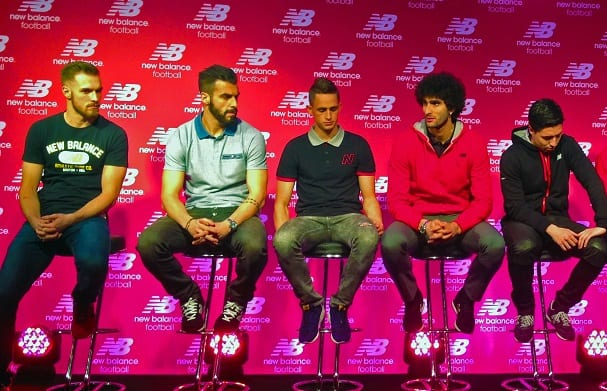 Players sponsored by New Balance