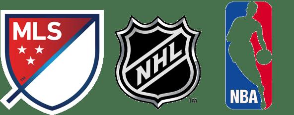 MLS, NHL and NBA Logos